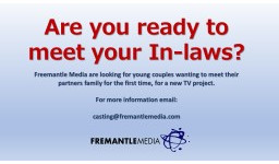 Logo for NOT YET MET THE IN-LAWS? READY TO INTRODUCE YOUR BF/GF TO MUM AND DAD? WE WANT TO HEAR FROM YOU!