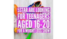 Logo for 5STAR Looking for young people aged 16-20 and families for weight loss show