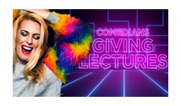 Logo for COMEDIANS GIVING LECTURES