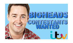 Logo for BIGHEADS hosted by Jason Manford.