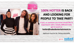 Logo for 100% HOTTER IS BACK & LOOKING FOR PEOPLE TO TAKE PART!